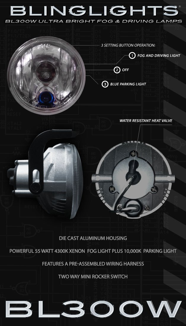 Amazoncom BL300w HID Simulated Fog Lamps with BuiltIn Daytime
