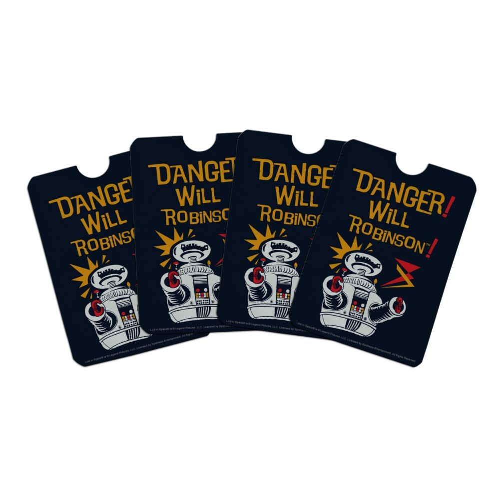 Danger Will Robinson B9 Robot Lost In Space Credit Card RFID Blocker Holder Protector Wallet Purse Sleeves Set of 4