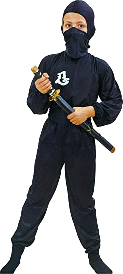 Disfraz negro de ninja comando para niño: Amazon.es: Juguetes y juegos