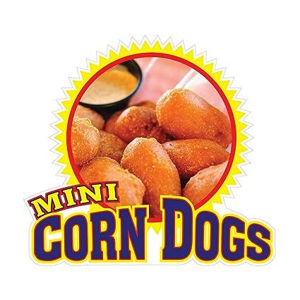 Mini Corn Dogs Concession Restaurant Food Truck Die-Cut Vinyl Sticker