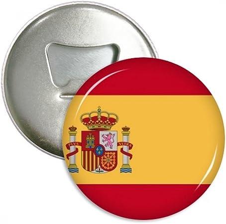 España Nacional bandera Europa país redondo abridor de botellas nevera Imán Pins Badge botón regalo 3pcs: Amazon.es: Hogar