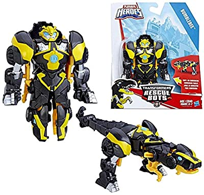 Heroes Transformers Rescue Bots Roar and Rescue Bumblebee Figure
