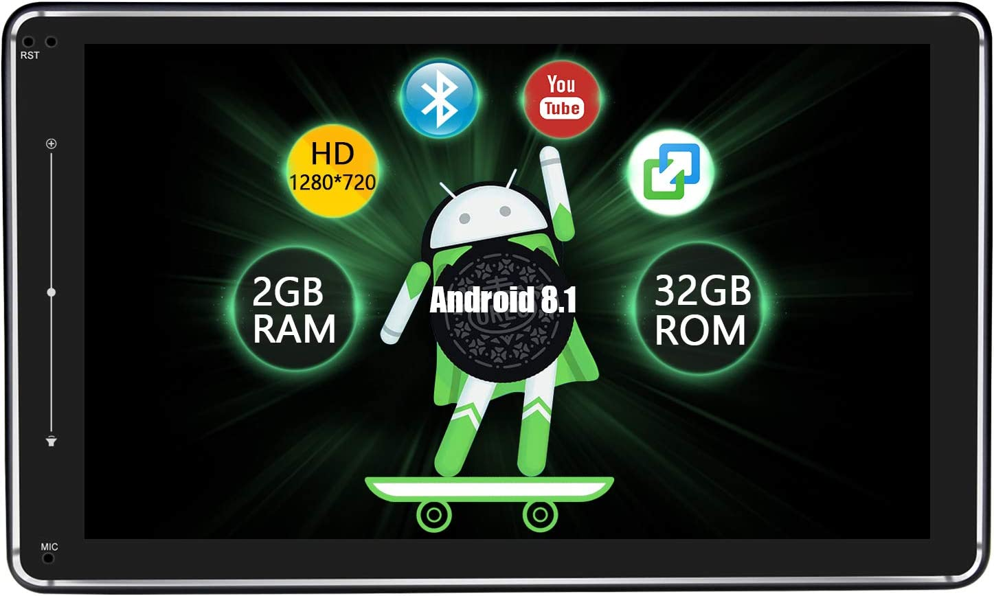 Joying 10.1 Android Car Stereo Double Din 2GB+32GB with with DSP//Easyconnect//1280/×720 Resolution//Fast Boot//SPDIF