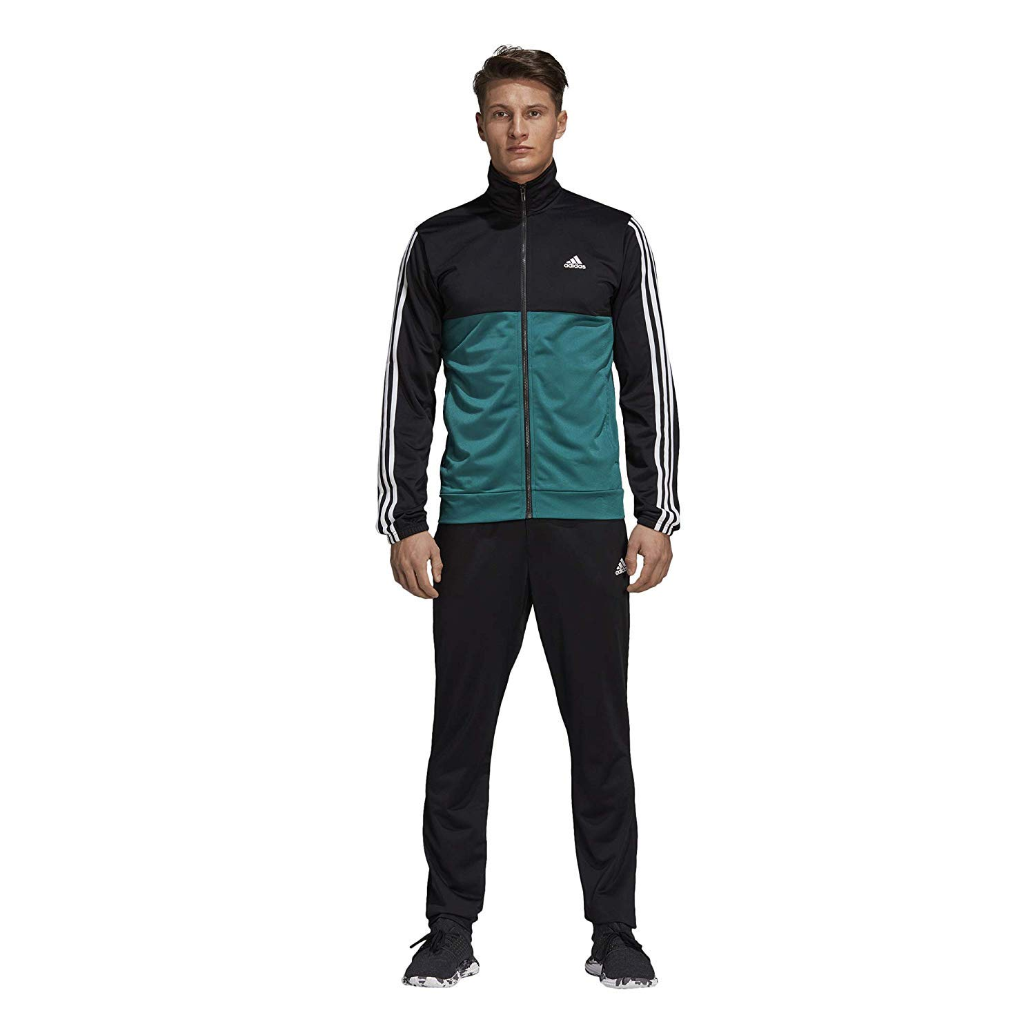 on sale bbc9b c656d Amazon.com  adidas Men Track Suit Back 2 Basics Running 3-Stripes Gym  Training CY2303 New (4 - UK 36 38 - Small)  Clothing
