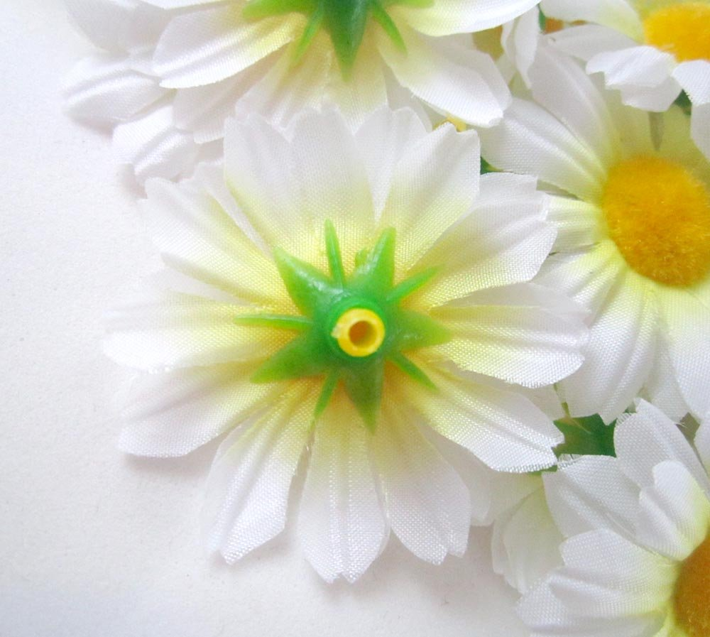 Amazon 24 silk white gerbera daisy flower heads gerber amazon 24 silk white gerbera daisy flower heads gerber daisies 175 artificial flowers heads fabric floral supplies wholesale lot for wedding izmirmasajfo
