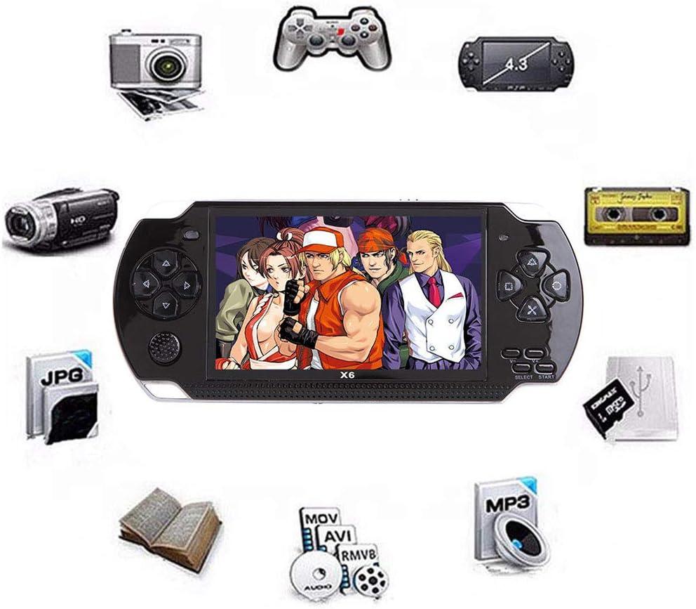 Lvreby Reproductor portátil de Juegos portátil Juego de 4,3 Pulgadas 8 GB 32 bits TV Consola de Videojuegos incorporada Más de 1000 Juegos Infantiles clásicos Salida de TV,Black: Amazon.es: Hogar