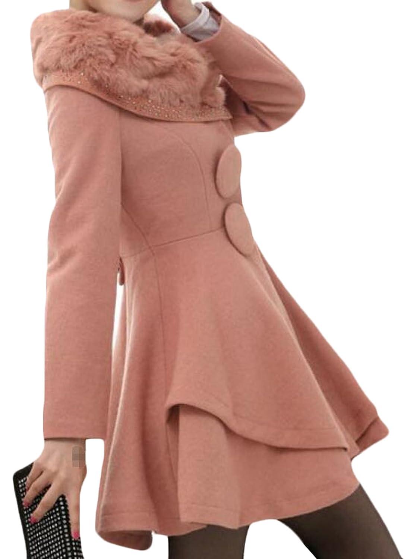 Binn Women's Winter Warm Defined Waist Mid Length Outerwear
