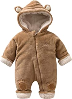 d7773ab0c Amazon.com  Luckyauction Baby Toddler Winter Cute Bear Fleece Romper ...