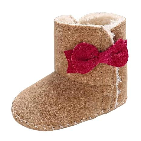 29a0c22d06b0b Amorar Bottes d hiver Chaussure Bébé Filles Premiers Chaussures de Marche  Les Tout-Petits