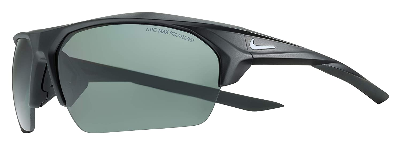 3da8619b3fe Amazon.com  Nike Men s Terminus P Polarized Rectangular Sunglasses Matte  Black White 76 mm  Clothing