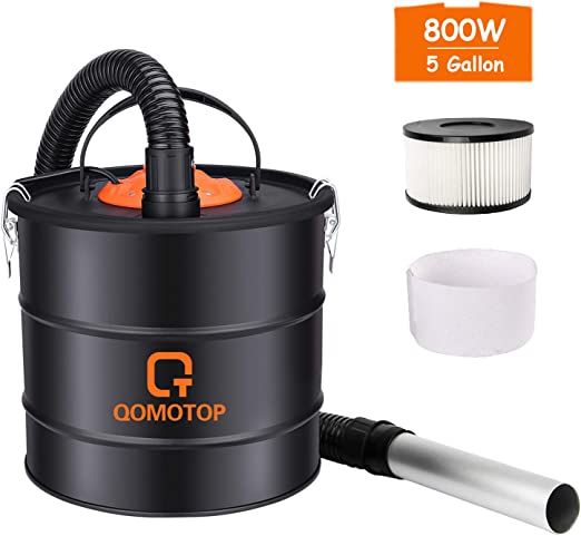 Amazon Com Ash Vacuum 800w Ash Vacuum Cleaner 5 Gallon Bagless