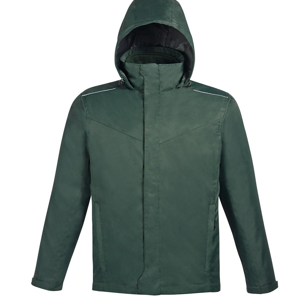 Ash City Mens Core 365 Region 3-In-1 Jacket with Fleece Liner (X-Large, Forest Green)