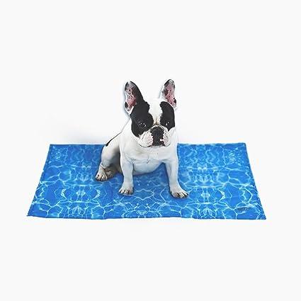 MUJING Patrón De Ondulación del Agua Cama para Mascotas Alfombrilla De Enfriamiento Gel para Gatos Y