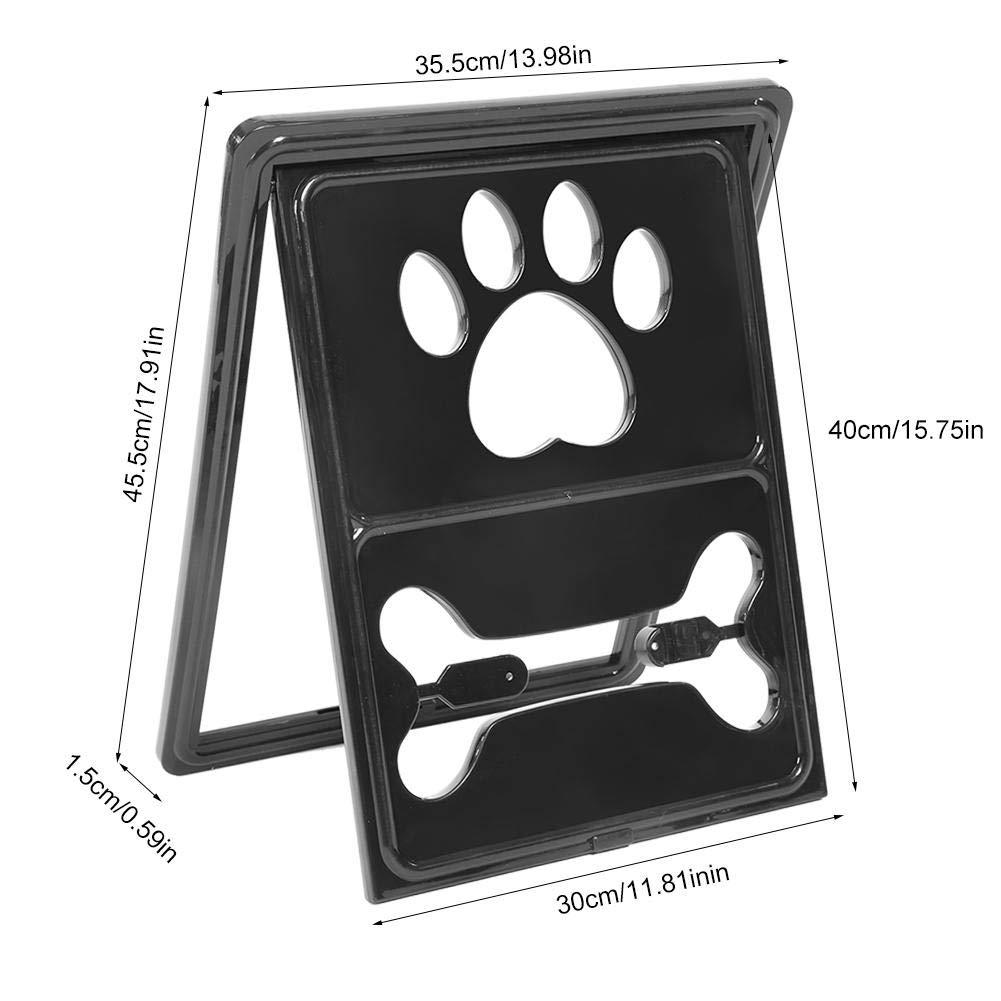 Negro Hffheer Puerta magn/ética para Mascotas Puerta bloqueable autom/ática para Mascotas Gato Perro Seguridad Cierre de la Puerta Cachorro Ventana Pantalla Gato Puerta abatible