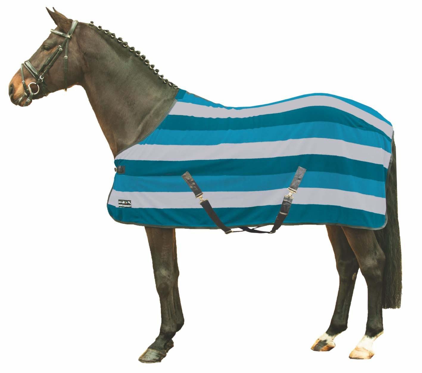HKM 567546/Couverture s/échante Colour Stripes avec Sangle crois/ée