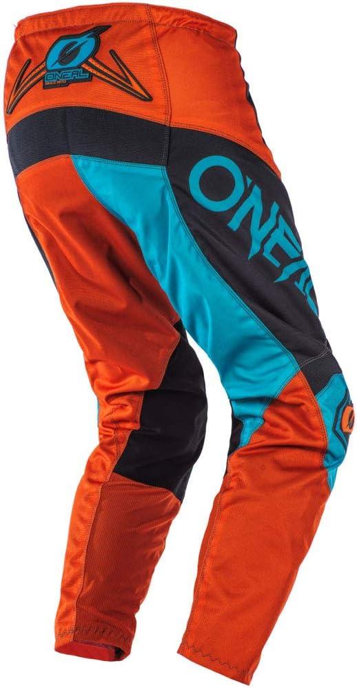 Pants W32 // Jersey Large ONeal Element Factor Gray//Orange//Blue Adult motocross MX off-road dirt bike Jersey Pants combo riding gear set