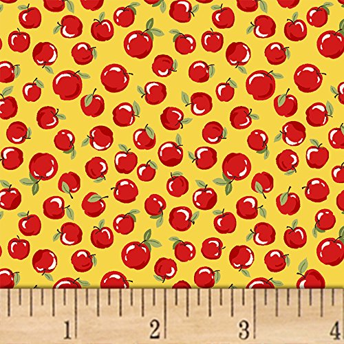 Windham Fabrics 0547571 Little Red Riding Hood Apples Yellow - With Fabric Apples