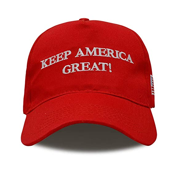TRUMP Make America Great Again MAGA Baseball Cap Hat Red Republican Olive Branch