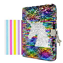 Colorful-unicorn Notebook Diary with Lock and Key