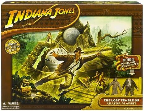 Indiana Jones - El reino de la calavera de cristal - El Templo Perdido de Juego Akator Set - incluyendo Indiana Jones y Ugha Warrior - Caja UE: Amazon.es: Juguetes y juegos