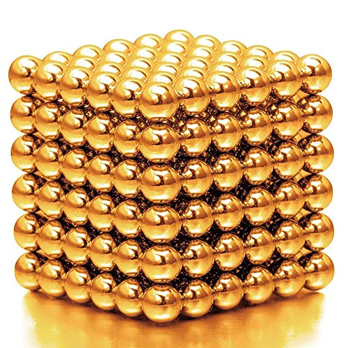 WAQIA HOUSE 216 Pcs Magnet Balls 5mm Set Original Buildable Magnet Sculpture Stress Relief Intelligence Development and Desk Toy for Kids and Adults Puzzle Magic Ball DIY Educational Toys