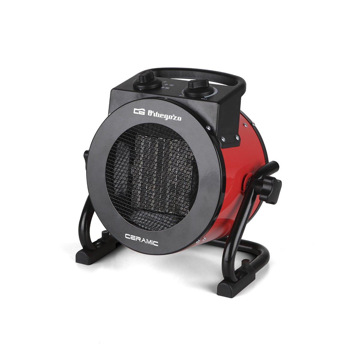 Orbegozo FHR Calefactor cerámico profesional W potencias de calor protección contra sobrecalentamiento