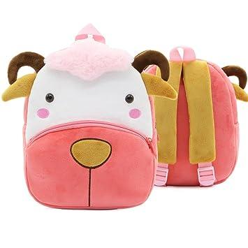 XLHMILY Mini dibujos animados 3D Mochila Infantiles Niños mochila animal oveja unicornio mochila algodón de jardín de infantes para niñas o niños 2-6 años: ...