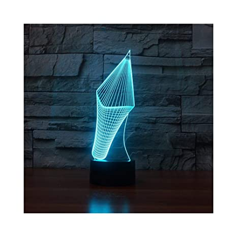Pencil Head Night Light Illusion Lamp Lámpara de mesa de noche, 7 ...