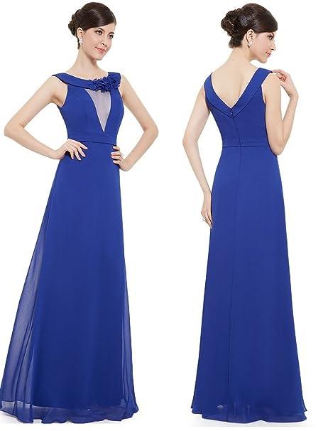 Vestido Madrina boda Fiesta dama noche talla 36 38 40 42 44 46 48 50 (
