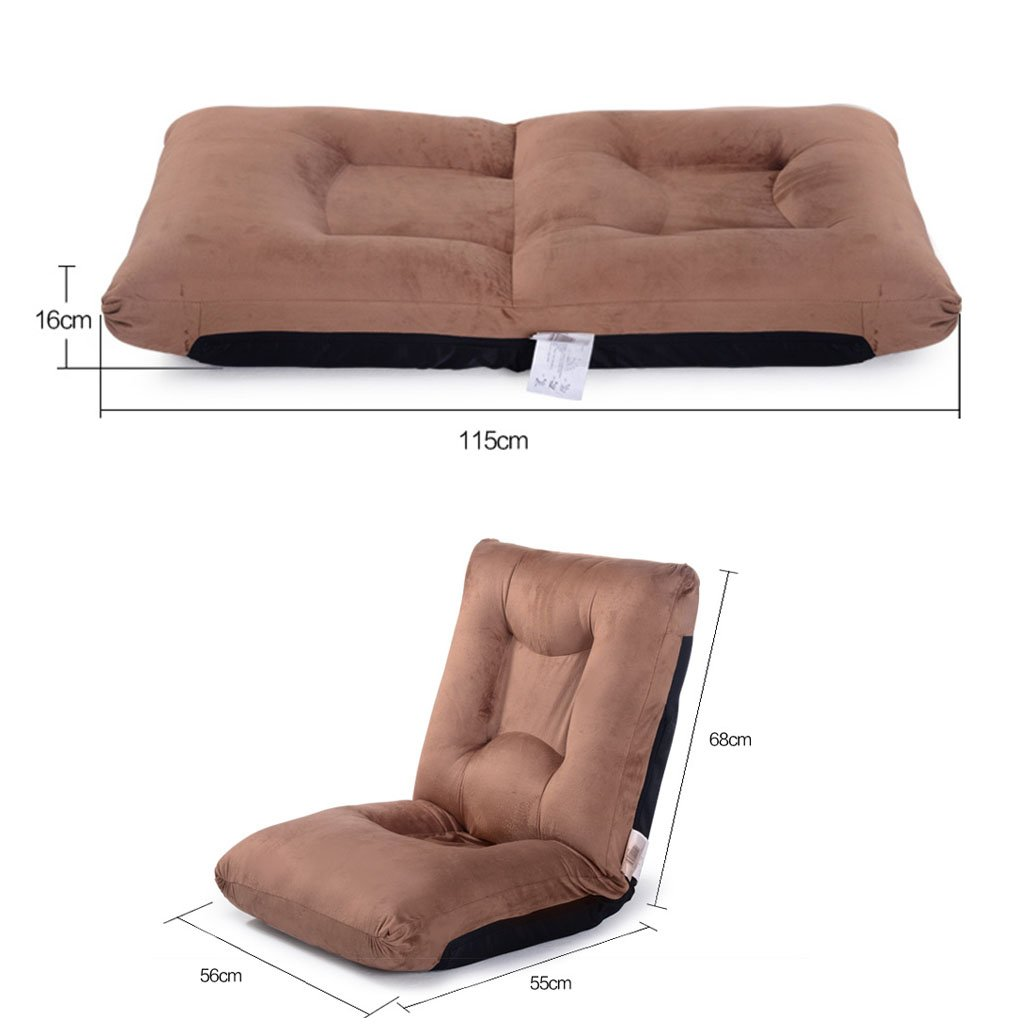 Amazon.com : Wei Hong Home Lazy Sofa Bed Folding Computer Chair Balcony Lunch Break Sofa Tatami Bed Function Chair Children Creative Cushion (Color : Brown, ...