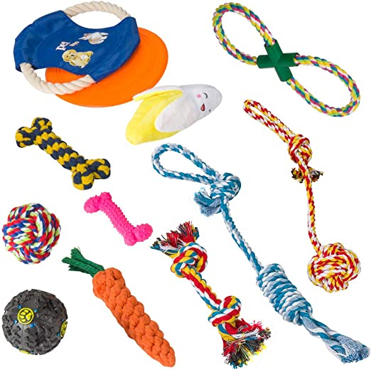 Juego de Juguetes para Perros, Cuerda para Masticar, Frisbee ...