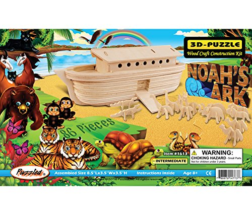 - Puzzled Noah's Ark 3-D Wooden Puzzle Construction Kit - Boats Theme - Affordable Gift For Kids and Adults - Item #1613