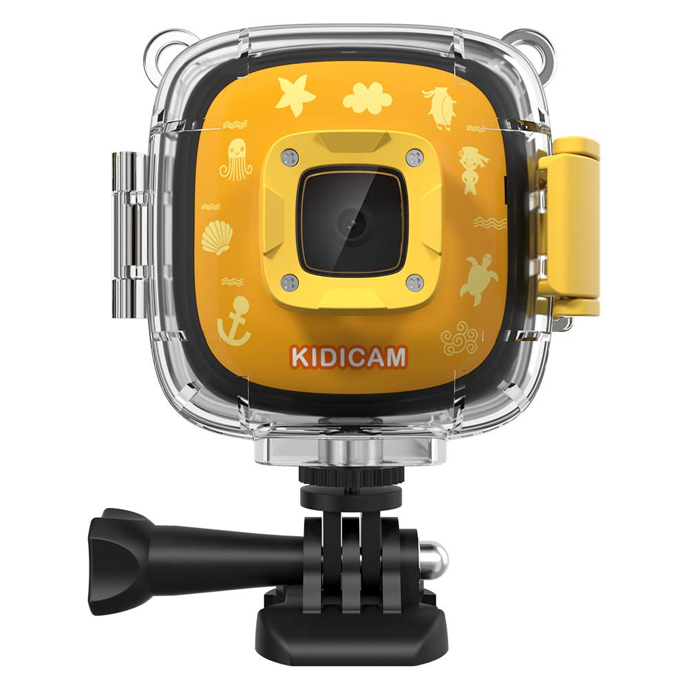Dragon Touch Kids Camera Kidicam 1080P Action Camera 30m Waterproof Camera Yellow by Dragon Touch (Image #1)