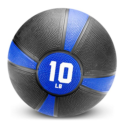 Crown Sporting Goods Tuff Grip Rubber Medicine Ball (10 LB)