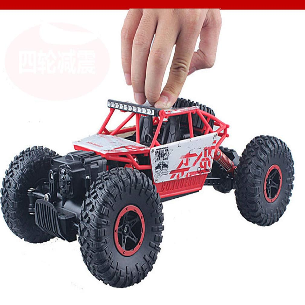 SUKEQ RC Car, 4WD 2.4GHZ 1/18 Crawlers Off Road Vehicle Toy Remote Control Car ATV Buggy Monster Truck, for Kids and Adults, Shipped from U.S.A. (red)