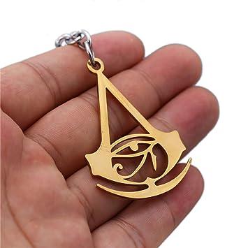 Assassins Creed - Llavero de metal, diseño de bandera negra ...