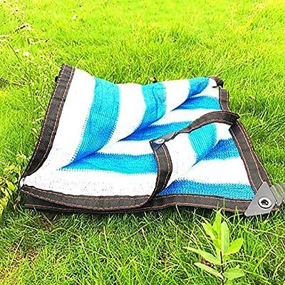 Toldos Sombreado 95% Pérgola De Gran Tamaño Cortina De Sun Sail UV Bloque Tela Patio Cortina De La Vela Dosel De Poly Tarp Sol Del Acoplamiento Con Arandelas (Color : Stripe-9.9x9.9ft/3x3m): Amazon.es: