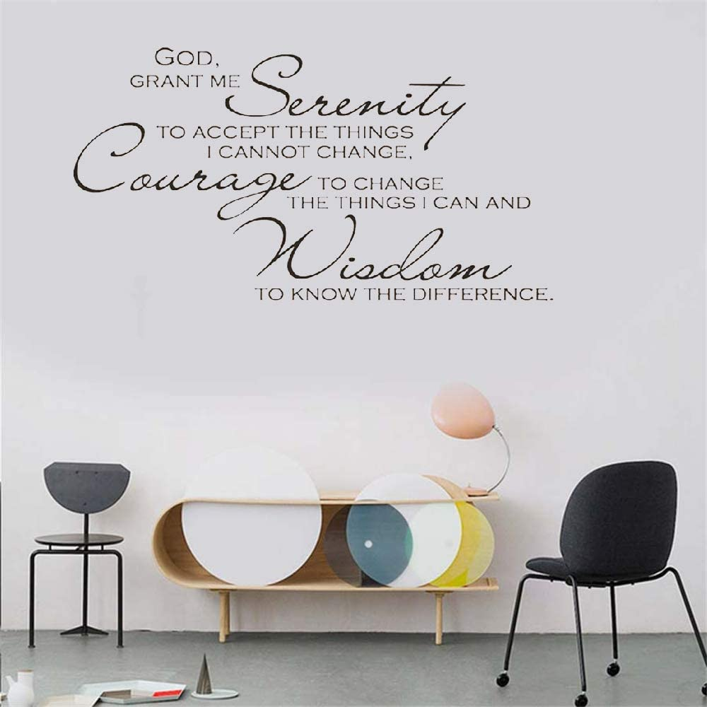 Words For Your Wall Vinyl Wall Decal Home Decor Quotes Serenity Prayer 1