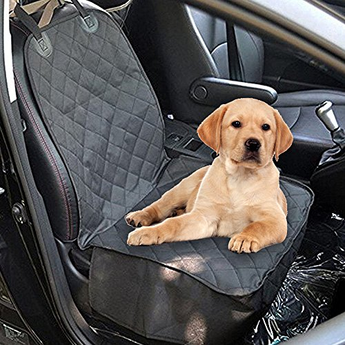 Pet Dog Car Front Seat Cover Nonslip Rubber Backing With Anchors Universal Design For All Cars Trucks SUVs Black Amazonca Supplies