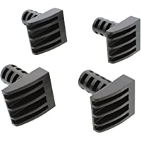 """DCT Woodworking Plastic Bench Dogs 4-Pack - Workbench Peg Brake Stops for 3/4"""" Holes in 1/2"""" Inch or Thicker Material"""