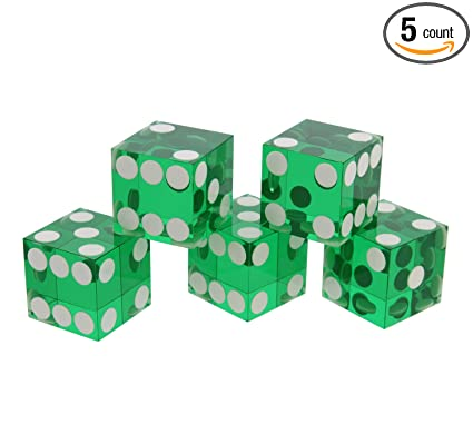Amazon.com   Get Out! Precision Casino Dice 6-Sided 19mm Game ... 564792453ff6c