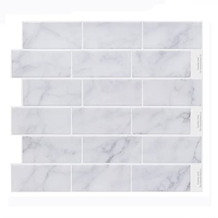 Phenomenal Vamos Tile Premium Peel And Stick Tile Backsplash Self Adhesive Wall Tiles For Kitchen Bathroom 11 2 X 10 6 Sheets Home Remodeling Inspirations Basidirectenergyitoicom