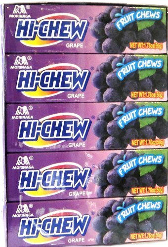 Morinaga Hi-chew Fruit Chews Case (120 Packs) (Hi-Chew Fruit Chews (Grape)) by Moringa