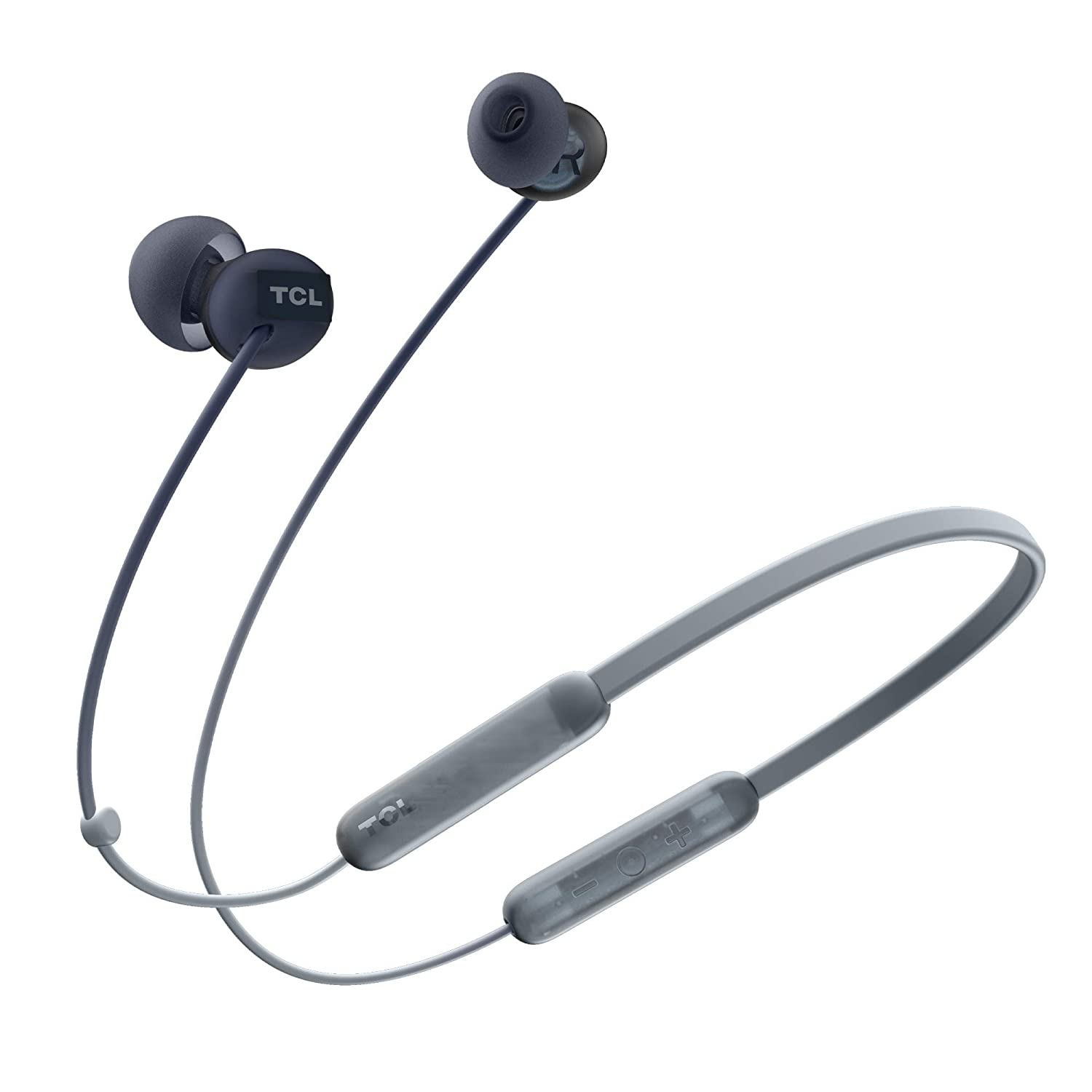TCL SOCL300BT Wireless Bluetooth in-Ear Earbud Headphones with Noise Isolation and Extra-Long 17hr Playback Battery, Built-in Mic - Phantom Black