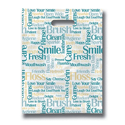 """Practicon 11096132 Tooth Talk Scatterprint Bags, 8"""" x 10"""" (Pack of 100)"""