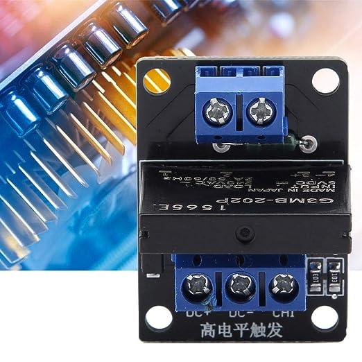 Module de Relais Statique /à 1 Canal 250V AC 2A avec Fusible 5V 12V Mode de D/éclenchement du Signal de Haut Niveau 12V