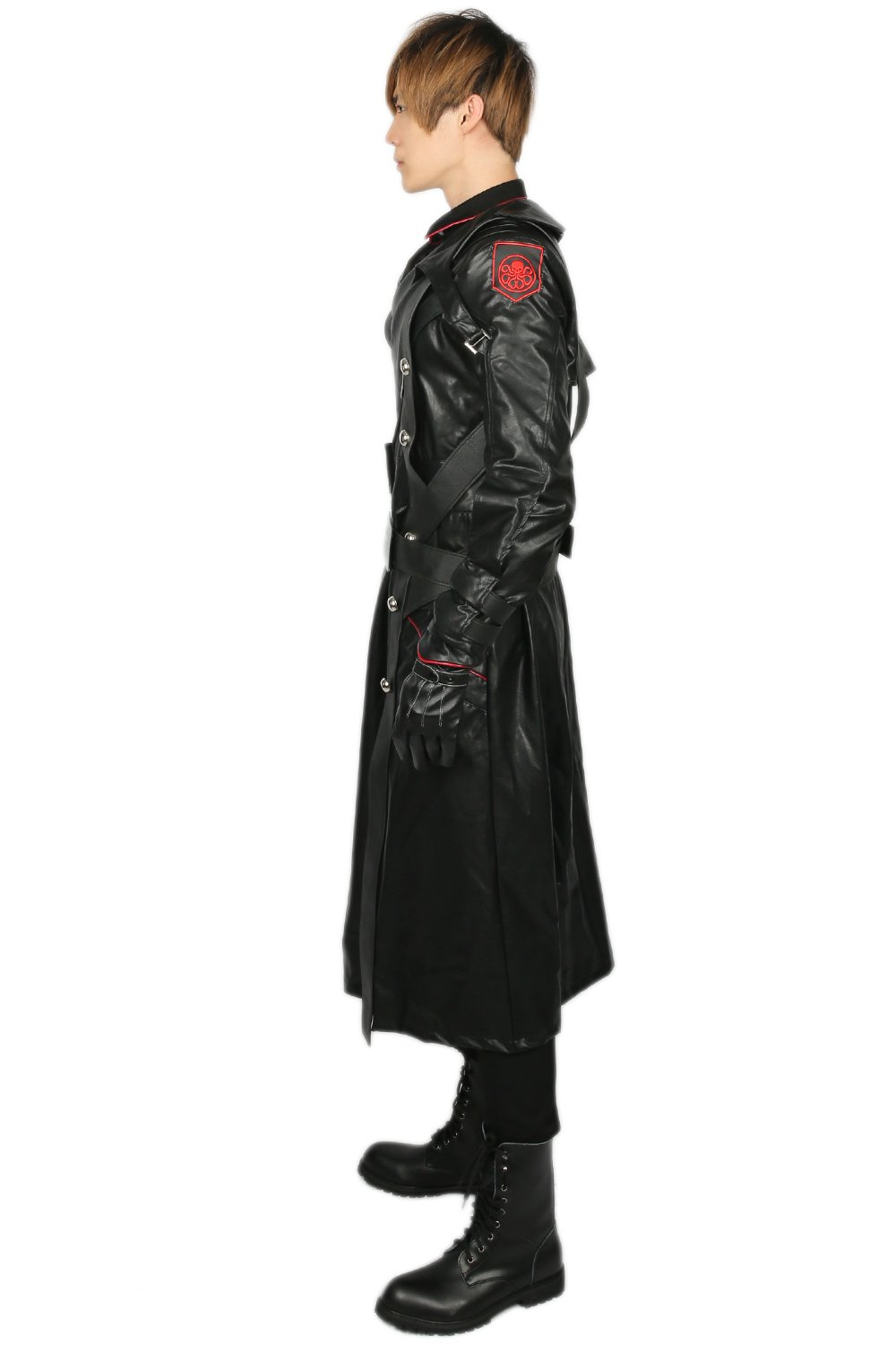 Adult Red Skull Cosplay Costume Outfit Suit for Halloween XL by xcostume (Image #3)