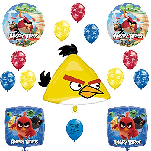 Angry Birds Happy Birthday Balloon Decoration (Angry Birds Plates)