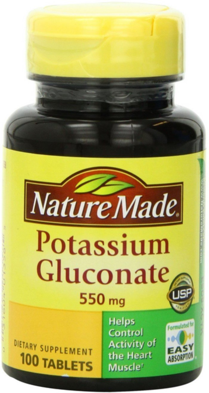 Nature Made Potassium Gluconate 550mg, 100 tablets