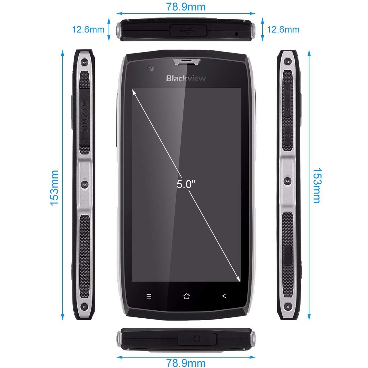 Teléfono Rugerizado, Blackview BV7000 Móvil IP68 de 5.0 FHD ...